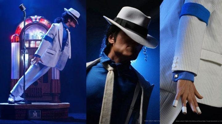La statua di Michael Jackson da Smooth Criminal