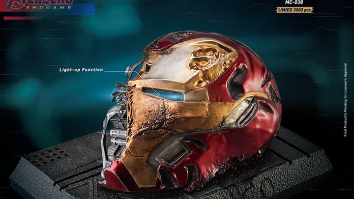 Iron Man Mark 50 Helmet Battle Damaged da Beast Kingdom