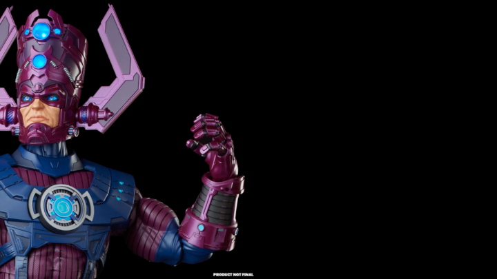 Galactus action figure da Hasbro, ben 81cm di altezza.
