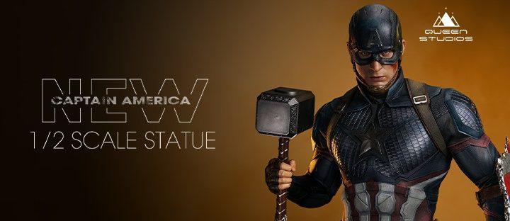"""Una statua di Captain America da """"Avengers: Endgame"""" alta oltre 1mt."""