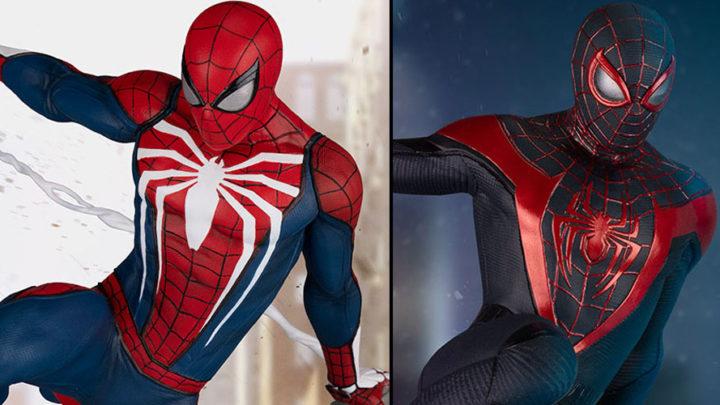 Spider-Man: Advanced Suit e Spider-Man: Miles Morales due statue da PCS