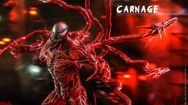 L'action doll di Carnage dal film Venom: La Furia di Carnage da Hot Toys