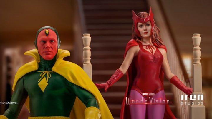 Wanda e Visione con i costumi di Halloween (Wandavision) da Iron Studios